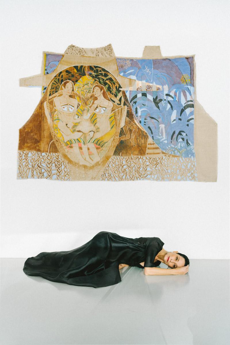 Marlene Steyn, Couple Face Suit (The palmtree version), 2013