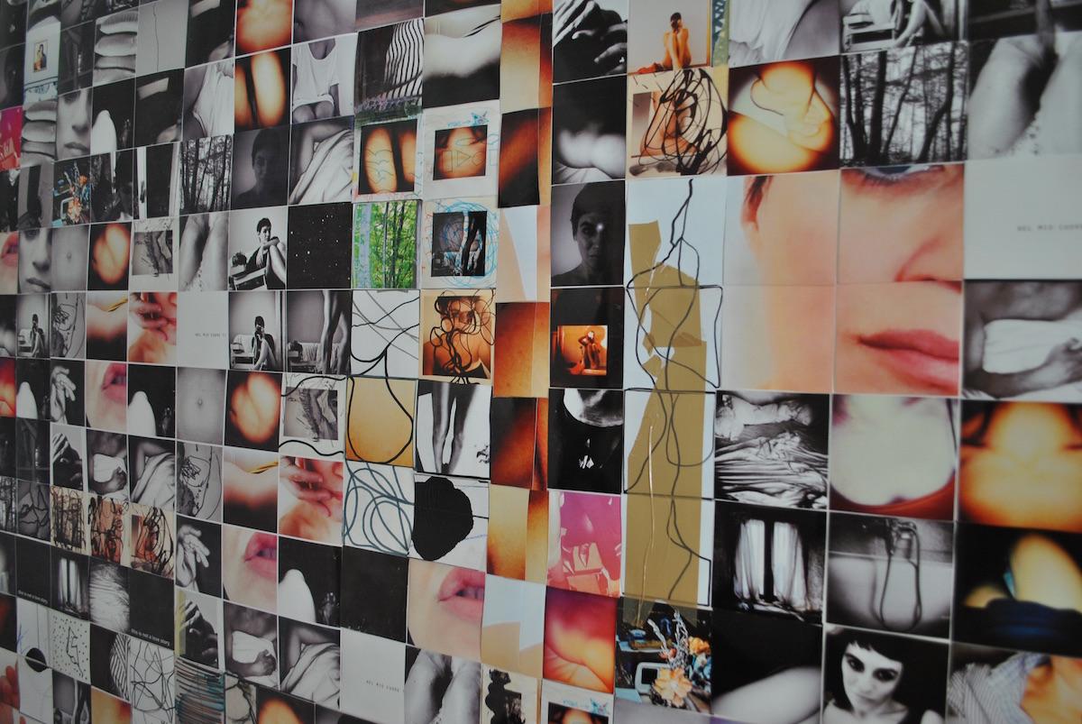 Sara Giordani, FRESH FLESH installazione di 250x250cm, particolare