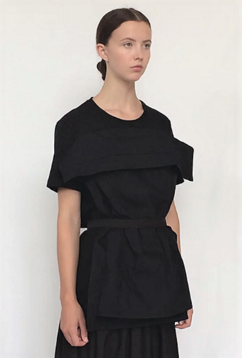 organic pillow dress black Cunnington & Sanderson