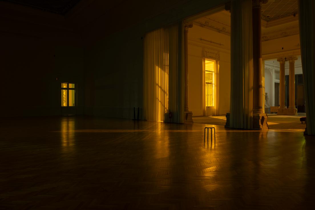 Roberto-Cotroneo_Tre notturni alla Galleria Nazionale d'Arte Moderna � N.1 in Mi bemolle maggiore_60x90cm_2020