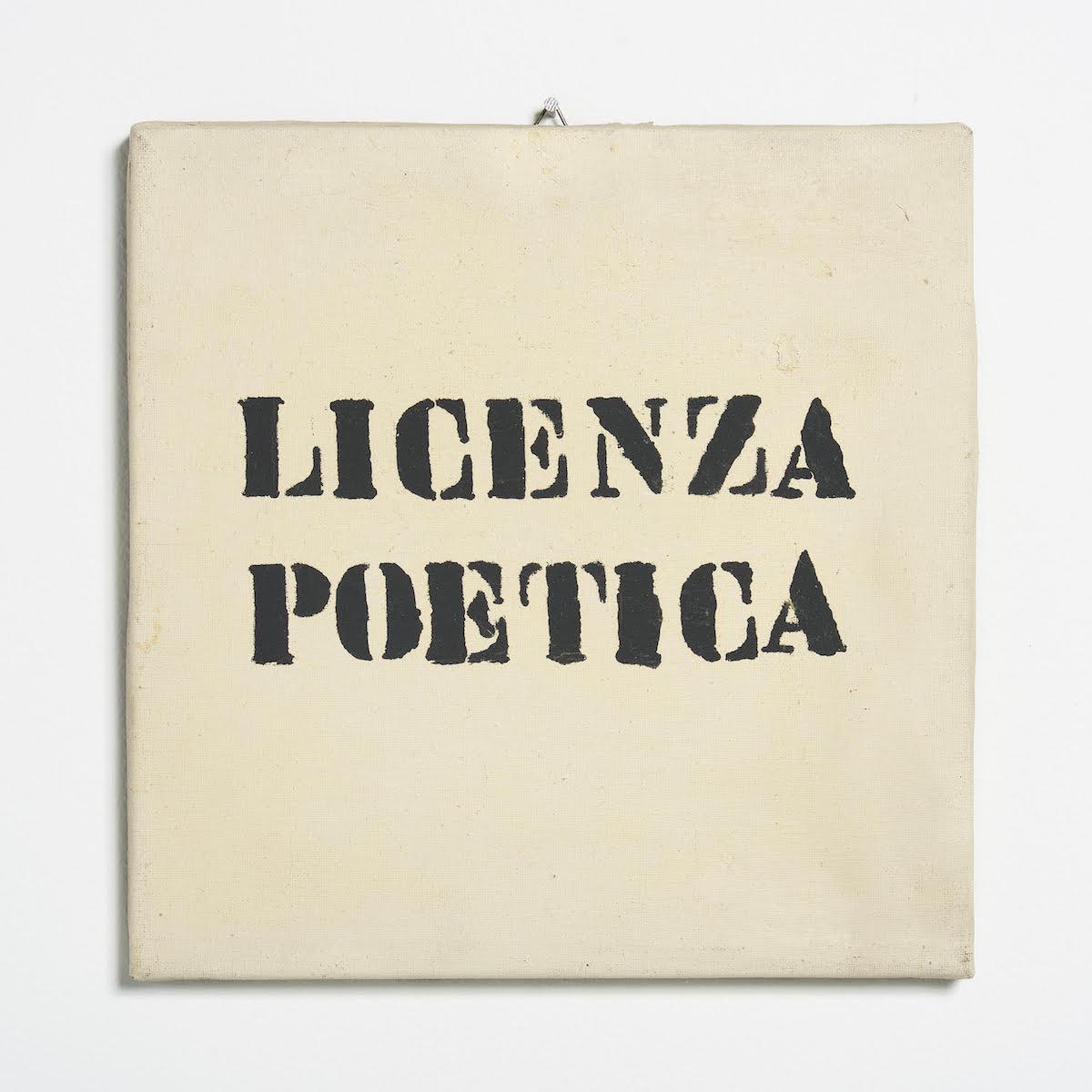 Sarenco, Licenza poetica, 1969, ph. Max Pescio