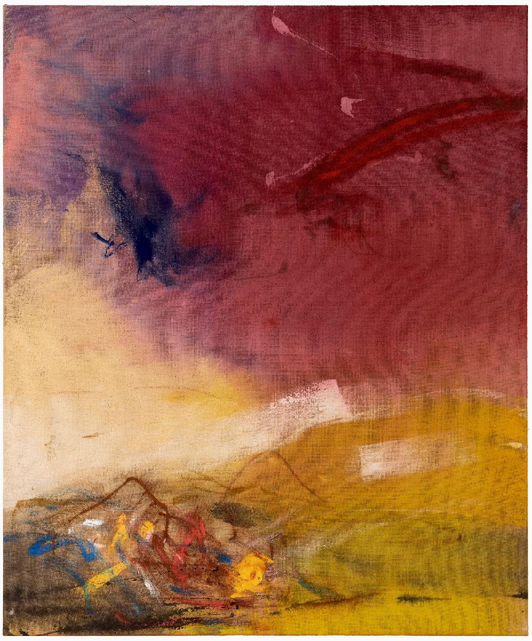 01_Leiko Ikemura_CRN Act, 2020, tempera on jute, 120x100 cm