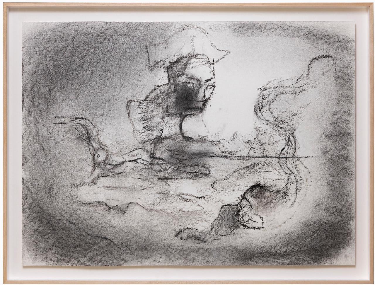 07_Leiko Ikemura_Mexican Afterworld, 2011, charcoal on paper, 55,8x76 cm