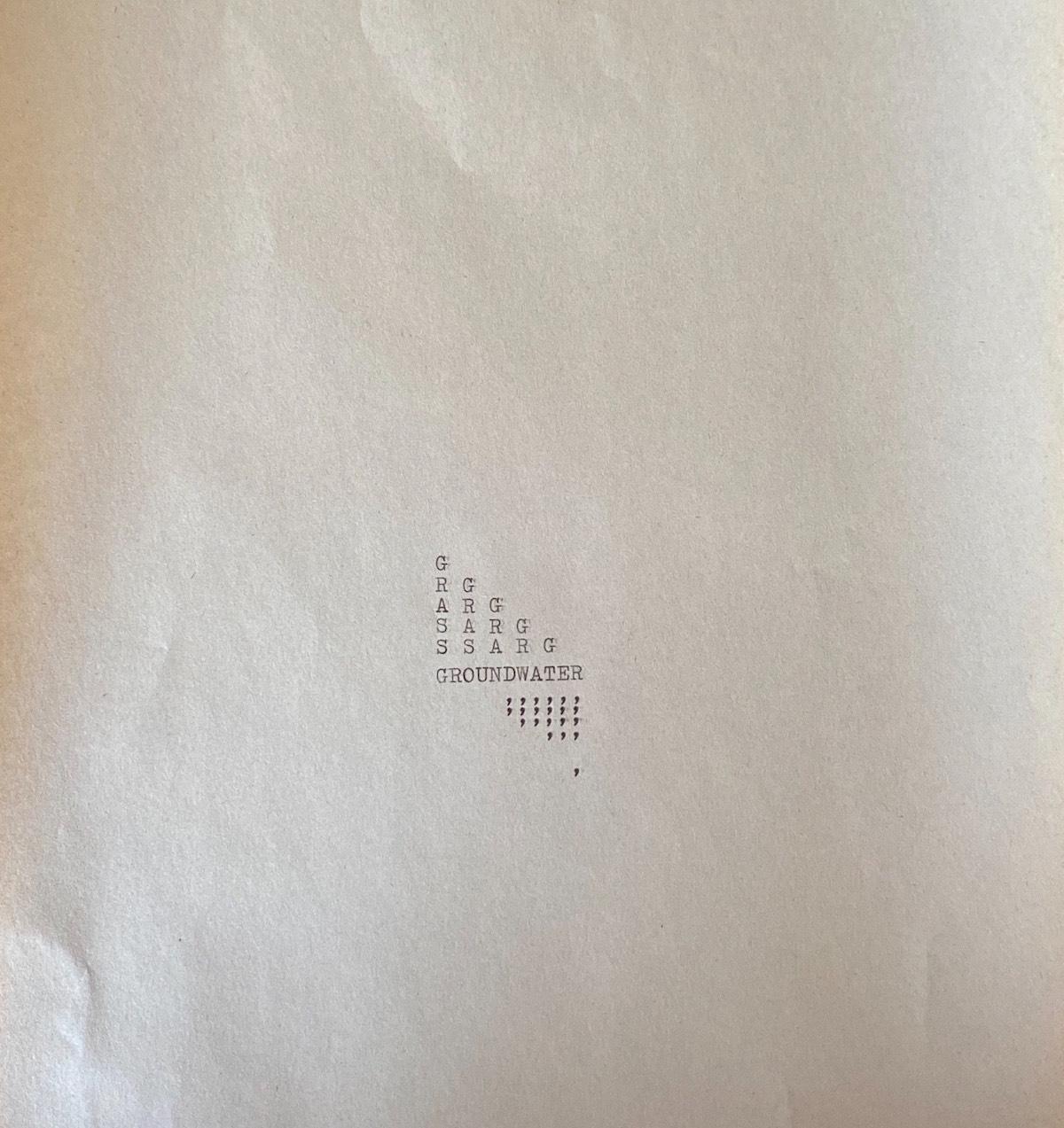 Hiromi Suzuki, OLIVETTI poems, Virtual Water